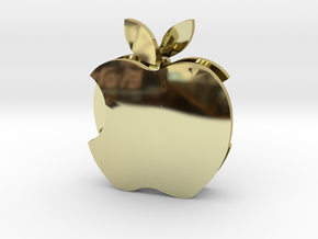 Apple earrings in 18k Gold Plated Brass: Small