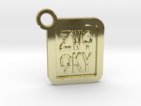 ZWOOKY Keyring LOGO 14 4cm 4mm  in 18K Gold Plated
