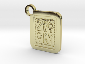 ZWOOKY Keyring LOGO 34 3cm 2.5mm in 18K Gold Plated