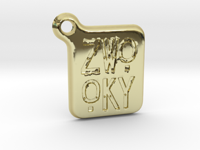 ZWOOKY Keyring LOGO 14 3cm 3mm rounded in 18K Gold Plated