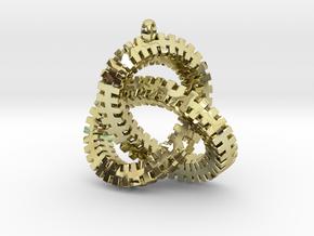 Escher Knot Pendant in 18K Gold Plated