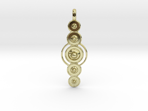 COSMIC PLANETS Designer Jewelry Pendant  in 18K Gold Plated