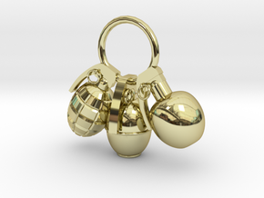 Hand grenade in 18K Gold Plated