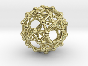 Snub Dodecahedron (right-handed) in 18K Gold Plated