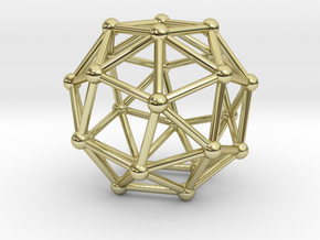 Snub Cube (right-handed) in 18K Gold Plated