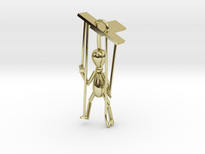 Puppet pendant top in 18K Gold Plated