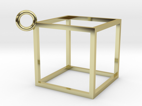 Square Necklace in 18K Gold Plated