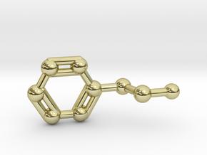 Phenethylamine Molecule Keychain Pendant in 18K Gold Plated