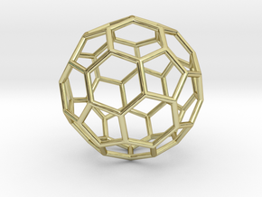 0024 Fullerene c60-ih Bonds/Truncated icosahedron in 18K Gold Plated