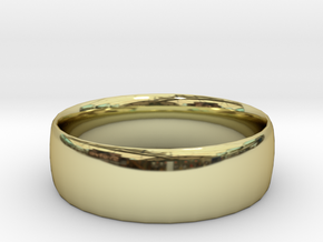 Plain Ring 20 mm x 20mm  in 18K Gold Plated