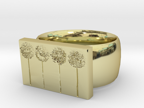 Flower Ring Version 10 in 18K Gold Plated