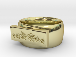 Flower  Ring Version 1 in 18K Gold Plated