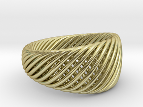 Twisted Ring - Size 5 in 18K Gold Plated
