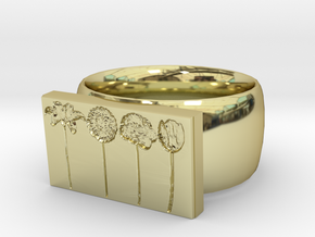 Flower Ring Version 9 in 18K Gold Plated
