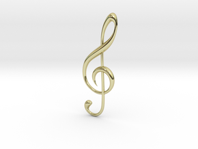 Classic Treble Clef Pendant in 18K Gold Plated