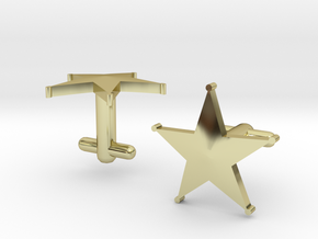 Sheriff's Star Cufflinks (1) Silver,Brass, or Gold in 18K Gold Plated