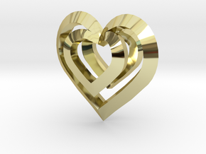 Heart Pendant in 18K Gold Plated