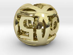 Ball Die in 18K Gold Plated