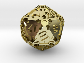 Huge d20 in 18K Gold Plated