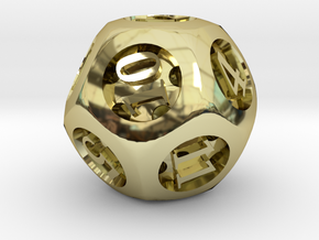 Overstuffed d12 in 18K Gold Plated