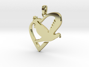 Love & Peace Pendant in 18K Gold Plated