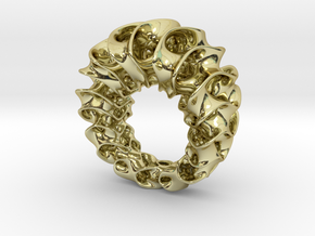 Gyroid Ring in 18K Gold Plated