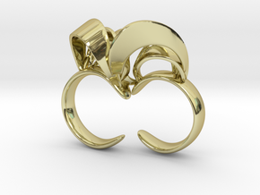 Ribbon Double Ring 8/9 in 18K Gold Plated