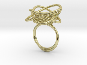 Sprouted Spiral Ring (Size 7) in 18K Gold Plated