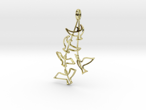 Birds Silhouette Pendant in 18K Gold Plated