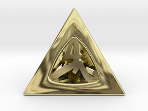 Thoroughly Modern Die4 in 18K Gold Plated