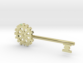 Gear Key in 18K Gold Plated