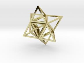 Merkaba Flatbase 4cm in 18K Gold Plated