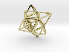 Merkaba Flatbase R1 - 4cm in 18K Gold Plated