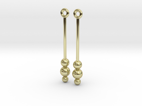 Three Orbs - Earrings - Silver or Brass in 18K Gold Plated