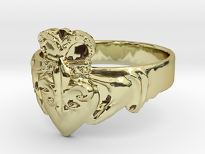 NOLA Claddagh, Ring Size 11 in 18K Gold Plated