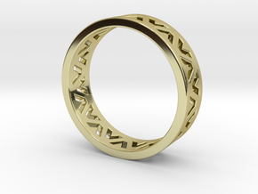 24 Caret Gold Ring (63mm) in 18K Gold Plated