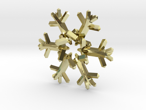 Snow Flake 6 Points D - 5cm in 18K Gold Plated