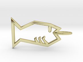 Minimalist Fish Pendant in 18K Gold Plated