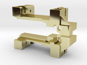 Card Rack Mount L & R in 18K Gold Plated