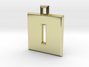 ABC Pendant - O/0 Type - Solid - 24x24x3 mm in 18K Gold Plated