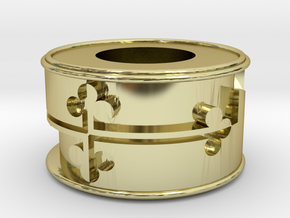 Maryland Flag Bracelet Charm in 18K Gold Plated