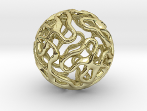 Gyroid Sphere Pendant in 18K Gold Plated