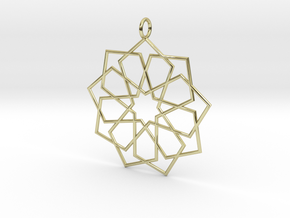 eastern ornament rounded in 18K Gold Plated