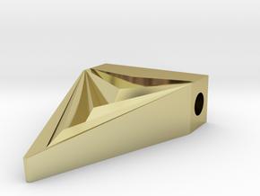 Unisex Futuristic Triangle Arrowhead Pendant in 18K Gold Plated