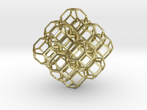 Truncated Octahedra in 18K Gold Plated