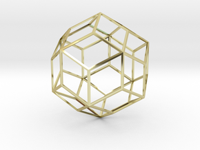 Rhombic Triacontahedron in 18K Gold Plated