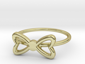Knuckle Bow Ring, subtle and chic. in 18K Gold Plated