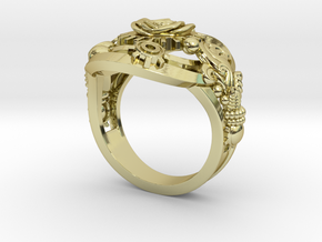 Botanica Mechanicum Ring SIZE 6 in 18K Gold Plated