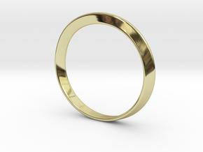 Mobius Strip Bracelet (48mm Inner Diameter) in 18K Gold Plated