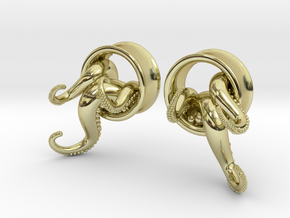 1 Inch TentacleTunnels in 18K Gold Plated